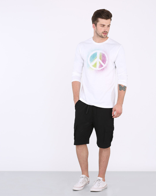 Shop Peace Colors Full Sleeve T-Shirt