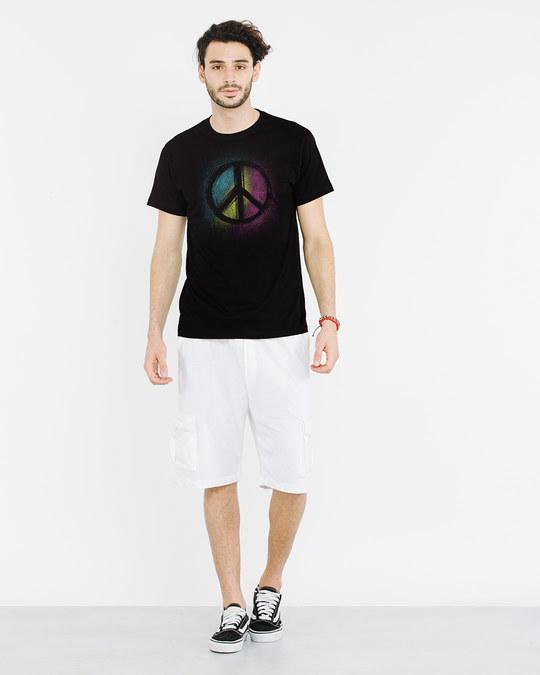 Shop Peace Colors Half Sleeve T-Shirt