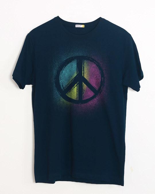 Shop Peace Colors Half Sleeve T-Shirt-Front