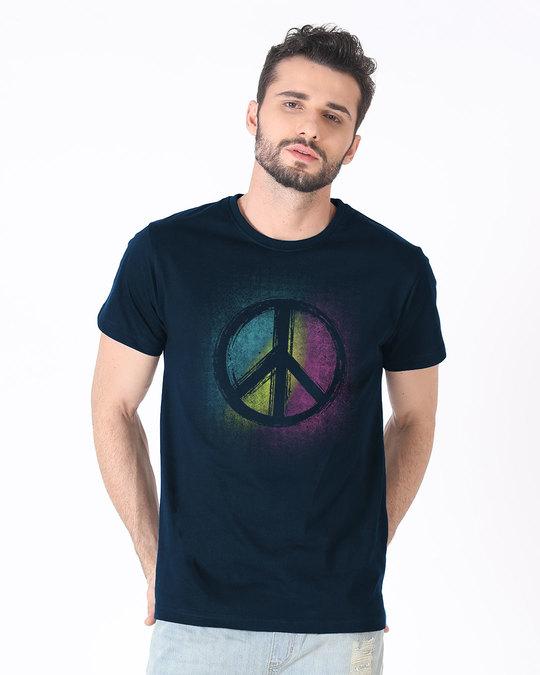 Shop Peace Colors Half Sleeve T-Shirt-Back
