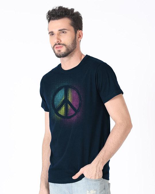 Shop Peace Colors Half Sleeve T-Shirt-Design