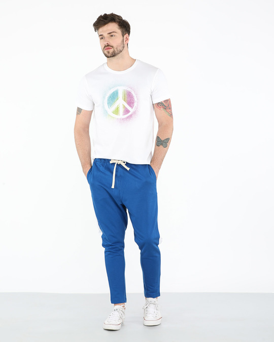 Shop Peace Colors Half Sleeve T-Shirt-Full