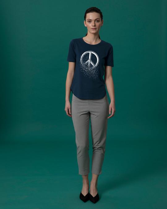 Shop Peace Dispersion Basic Round Hem T-Shirt