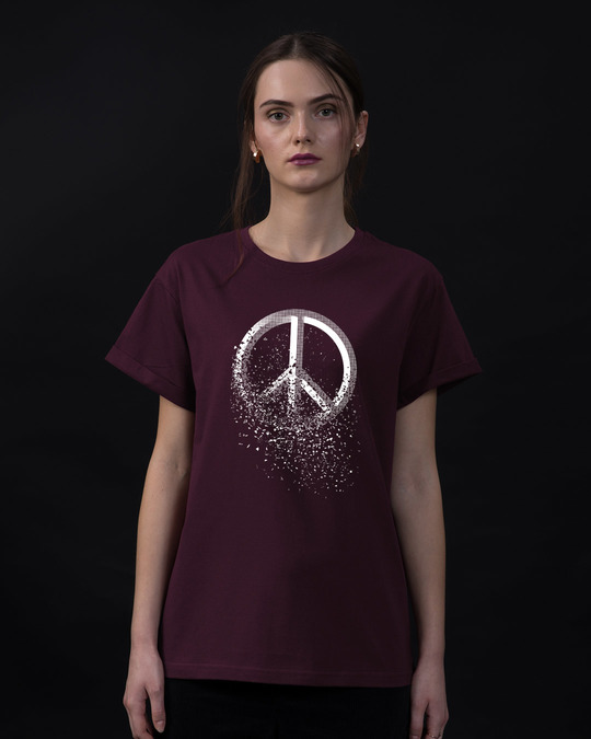 Shop Peace Dispersion Boyfriend T-Shirt-Front