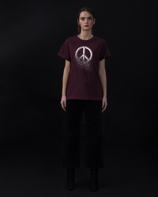 Shop Peace Dispersion Boyfriend T-Shirt-Full