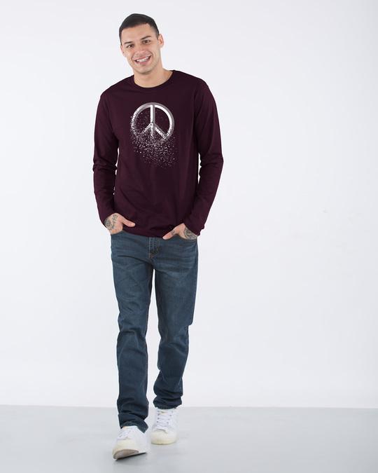 Shop Peace Dispersion Full Sleeve T-Shirt-Full