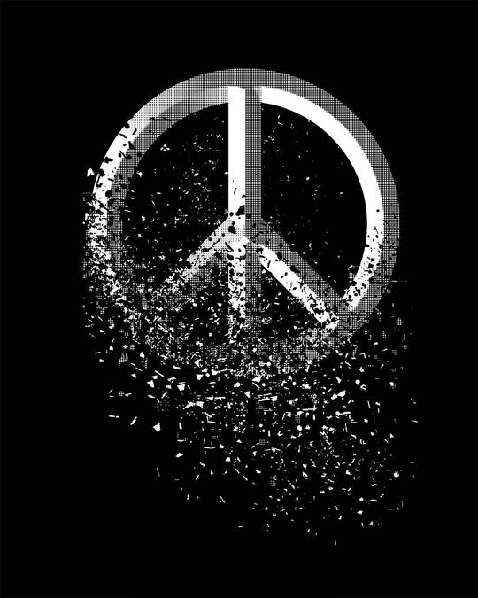 Shop Peace Dispersion Full Sleeve T-Shirt