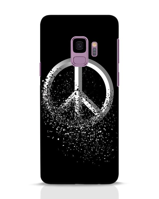 Shop Peace Dispersion Samsung Galaxy S9 Mobile Cover-Front