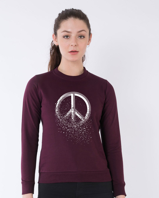 Shop Peace Dispersion Fleece Sweater-Front