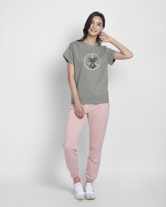 Shop Peace Jerry Boyfriend T-Shirts (TJL) Meteor Grey-Full