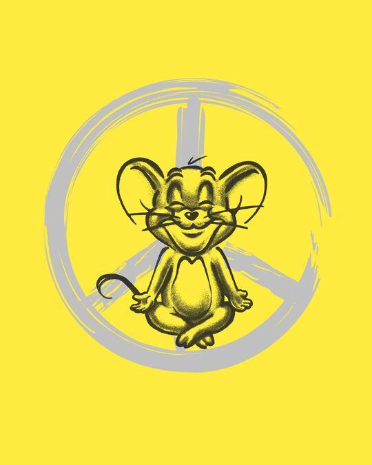 Shop Peace Jerry Full Sleeve T-Shirt (TJL) Pinapple Yellow-Full