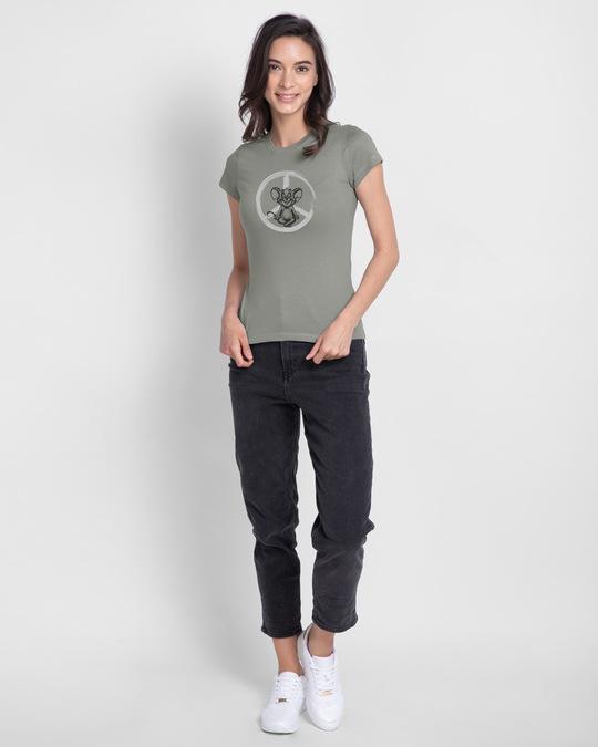 Shop Peace Jerry Half Sleeve Printed T-Shirt (TJL) Meteor Grey-Design