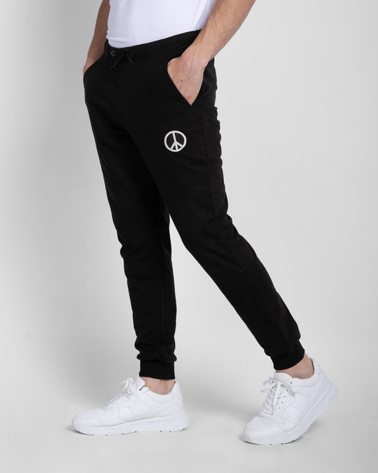 Shop Peace Logo Casual Badge Jogger Pants-Back