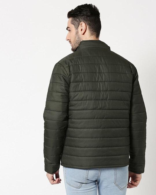 Shop Peace Logo Puffer Jacket with Detachable Hood-Design