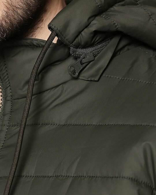 Shop Peace Logo Puffer Jacket with Detachable Hood