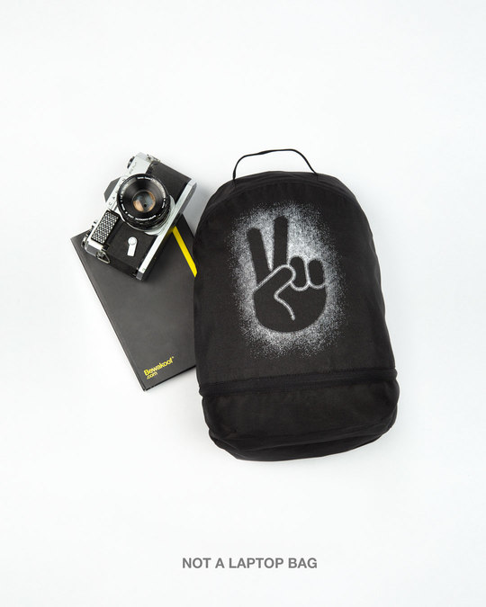 Shop Peace Out Shadow Essential mini Backpack-Front