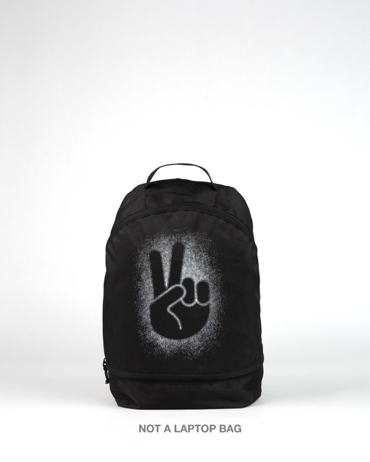 Shop Peace Out Shadow Small Backpack-Front
