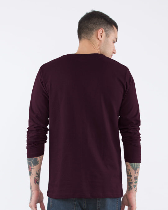 Shop Peace Out Shadow Full Sleeve T-Shirt-Back