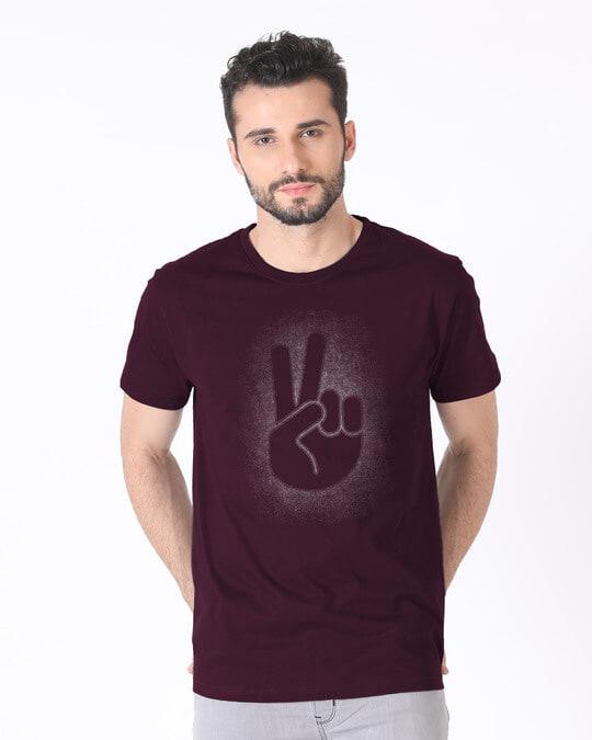 Shop Peace Out Shadow Half Sleeve T-Shirt-Back
