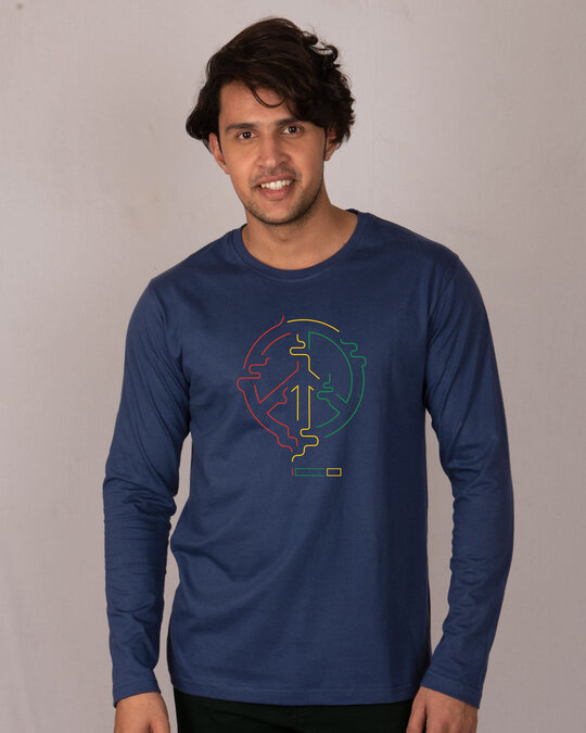 Shop Peace Puff Full Sleeve T-Shirt-Front