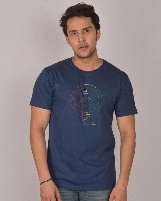 Shop Peace Puff Half Sleeve T-Shirt-Front