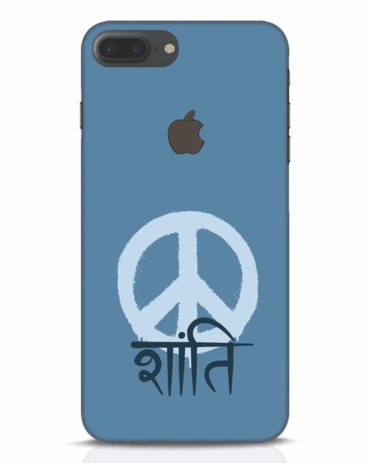 Shop Peace Shanti iPhone 7 Plus Logo Cut Mobile Cover-Front