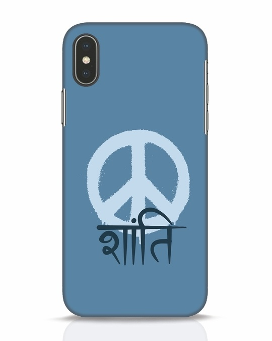 Shop Peace Shanti iPhone X Mobile Cover-Front