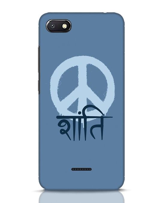 Shop Peace Shanti Xiaomi Redmi 6A Mobile Cover-Front