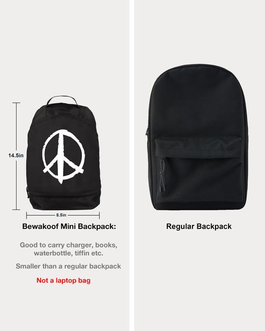 Shop Peace Symbol Essential mini Backpack-Design