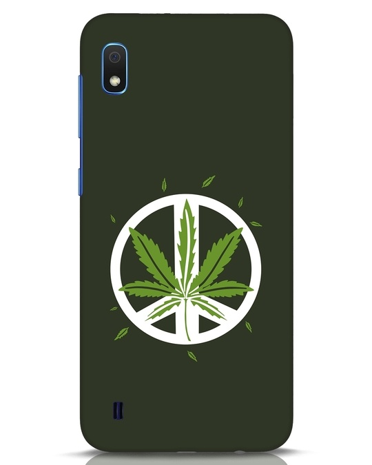 Shop Peace Leaf Samsung Galaxy A10 Mobile Cover-Front