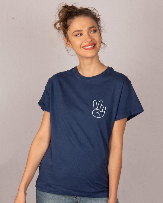 Shop Peace Yo Boyfriend T-Shirt-Back