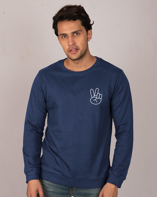 Shop Peace Yo Fleece Sweater-Back