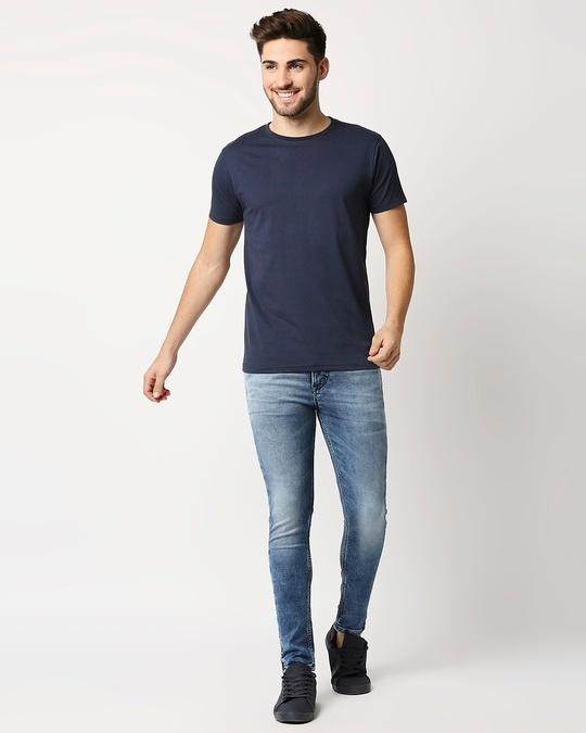 Shop Pageant Blue Half Sleeve T- Shirt-Full