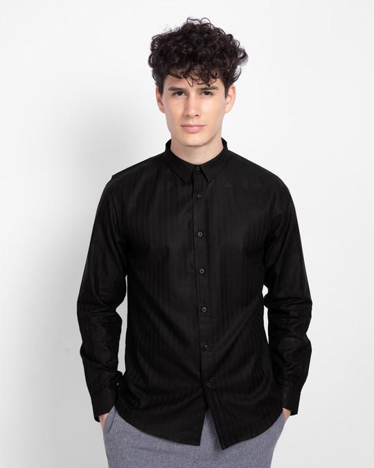 Shop Pebble Black Solid Shirt-Front