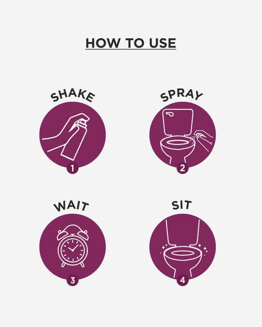 Shop Pee Safe - Toilet Seat Sanitizer Spray 300 ml - Lavender-Full