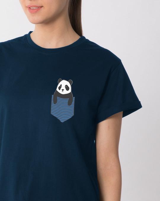 Shop Peek-a-boo Panda Boyfriend T-Shirt-Front