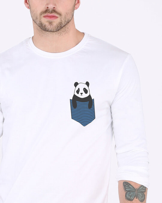 Shop Peek-a-boo Panda Full Sleeve T-Shirt-Front
