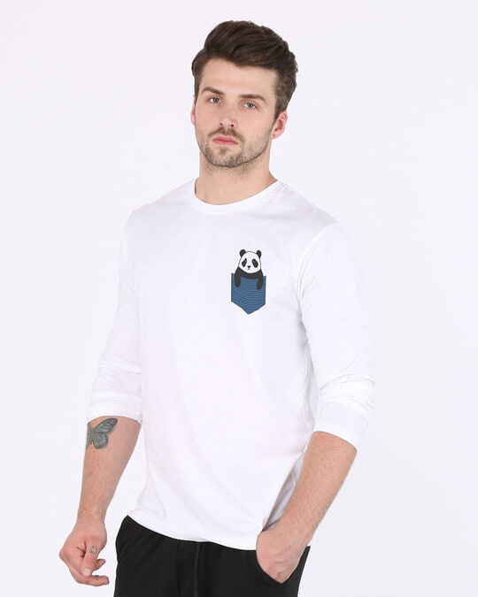 Shop Peek-a-boo Panda Full Sleeve T-Shirt-Full