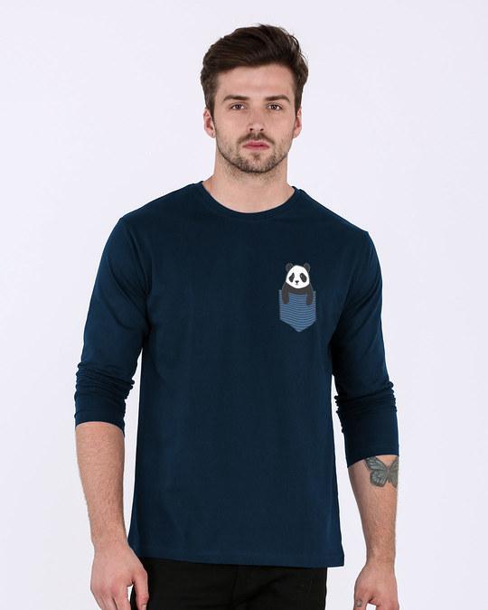 Shop Peek-a-boo Panda Full Sleeve T-Shirt-Back