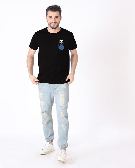 Shop Peek-a-boo Panda Half Sleeve T-Shirt