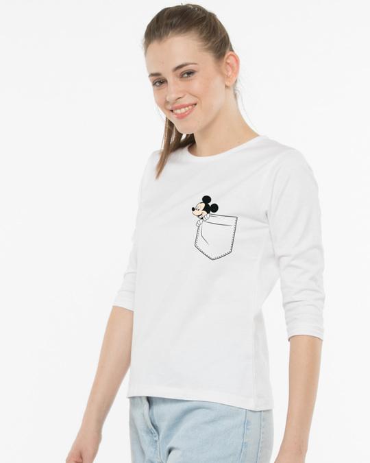 Shop Peek-a-boo Round Neck 3/4th Sleeve T-Shirt (DL)-Full