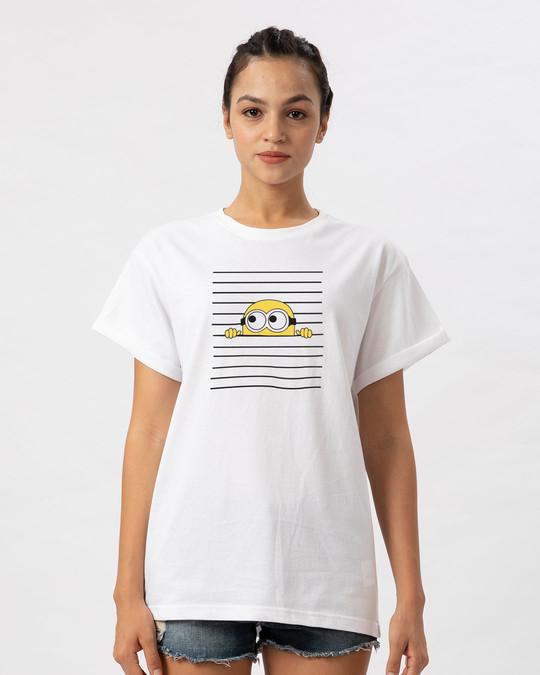 Shop Peek-a-minni Boyfriend T-Shirt-Front