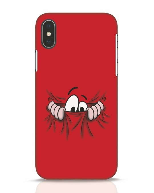 Shop Peek Out iPhone X Mobile Cover-Front