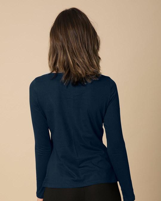 Shop Peeking Rabit Scoop Neck Full Sleeve T-Shirt-Back