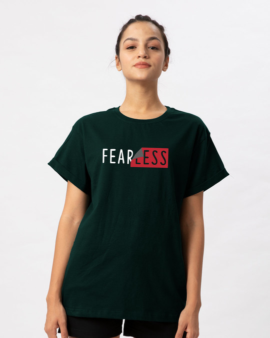 Shop Peel Off Fearless Boyfriend T-Shirt-Front