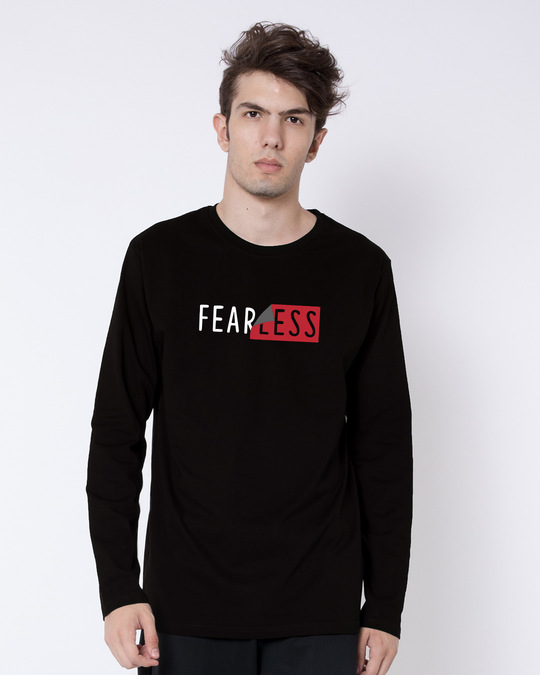 Shop Peel Off Fearless Full Sleeve T-Shirt-Front