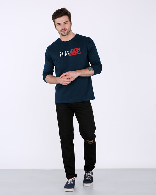 Shop Peel Off Fearless Full Sleeve T-Shirt