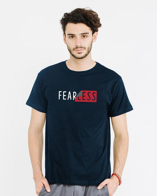 Shop Peel Off Fearless Half Sleeve T-Shirt-Back