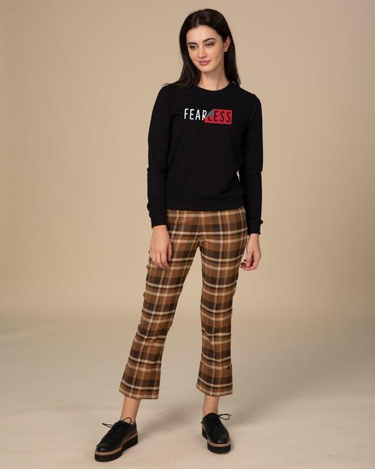 Shop Peel Off Fearless Fleece Light Sweatshirt-Full
