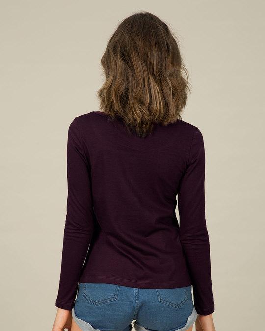 Shop Peeping Bunny Scoop Neck Full Sleeve T-Shirt-Design